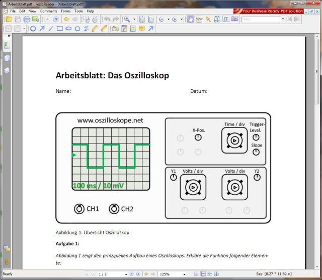 Oszilloskop-Arbeitsblatt - oszilloskope.net