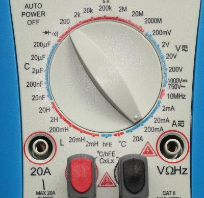 Einstellung Multimeter zum Strom messen.