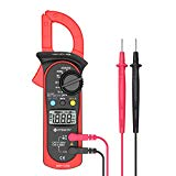 Etekcity Digital Clamp Meter Multimeter, MSR-C600 Auto-Ranging Multimeters AC/DC voltmeter Ammeter with Voltage, AC Current, Resistance, Amp, Volt, Ohm, Diode and Continuity Test Tester, Red/Black